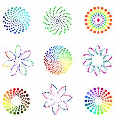 Dot design elements vector