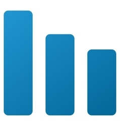 Bar chart decrease gradient icon vector