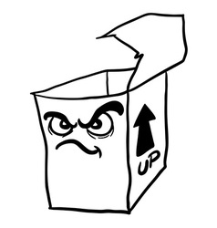 Black and white angry freehand drawn cartoon empty vector