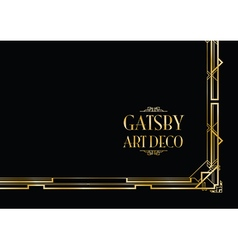 Gatsby art deco vector