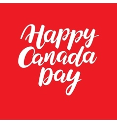 Happy canada day card handwritten vector