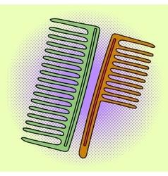 Comb pop art vector