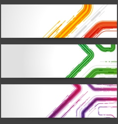 Abstract banners vector image vector image