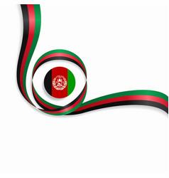 Afghanistan wavy flag background vector