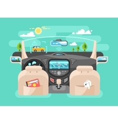 Automobile computer assistent vector image vector image
