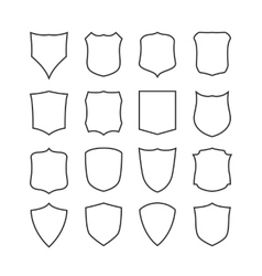 Big set of blank classic shields templates vector image vector image