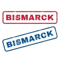 Bismarck Rubber Stamps vector image vector image