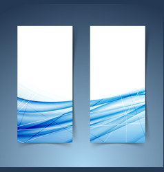 blue swoosh wave and line abstract banner vector image vector image