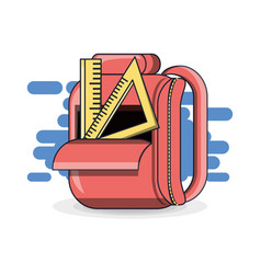 Colorfull school backpack education concept vector
