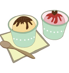 Cup of icecream vector image