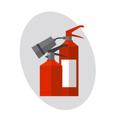 fire extinguisher danger protection security help vector image
