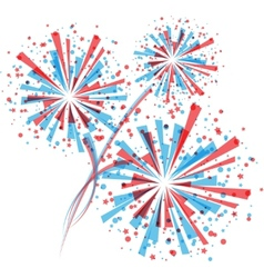 Fireworks in white vector image vector image