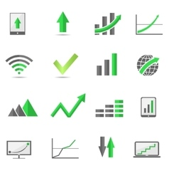 Growth symbols vector image