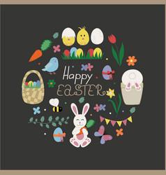happy easter congratulation card vector image