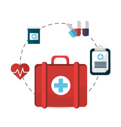 hospital suitcase tools icon vector image