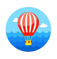 Hot air balloon icon summer vacation vector