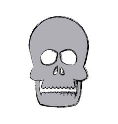 Human skull bone care healthy vector