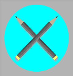 Icon cross pencil vector image vector image