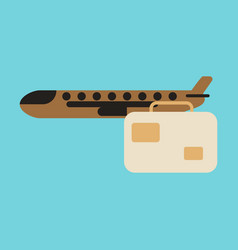 icon in flat design airplane suitcase vector image