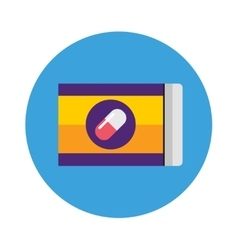 Pills pack blister icon of medication vector image vector image