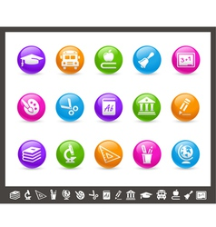 School and Education Icons Rainbow Series vector image vector image