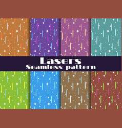 Seamless patterns with laser beams background vector