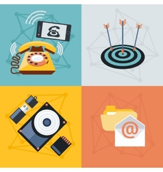 Set icons for web and mobile applications vector image vector image