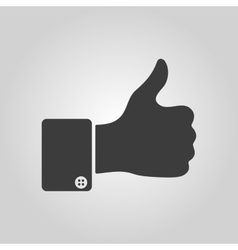 The thumb up icon Like symbol Flat vector image