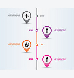 Time line info graphic and pointers vector