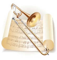 Classical trombone vector image