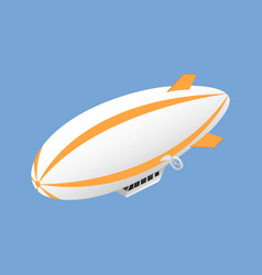 Icon isometric airship vector