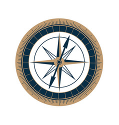 Antique sea compass icon wind rose vector