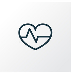 Heartbeat outline symbol premium quality isolated vector