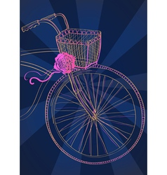 Dark background with bike vector