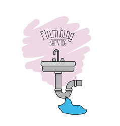 Scene of handwash with dripping pipes flooded vector