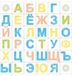 Color Russian Alphabet Pattern vector image