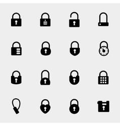 Simple padlock icons vector
