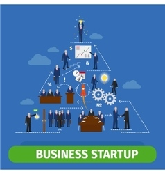 Business pyramid infographics vector