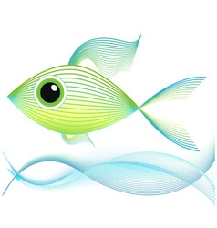 Blend art fish vector