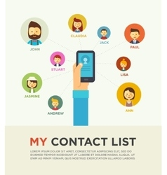 Social networking people conceptual vector
