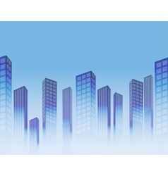Seamless skyscrapers vector