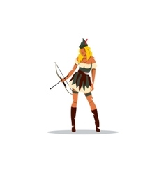 Girl robin hood vector