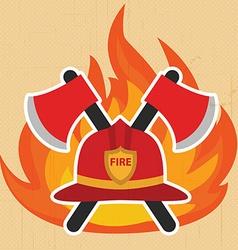 Modern firefighter sign fire intervention vector image