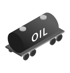 Tank wagon isometric 3d icon vector