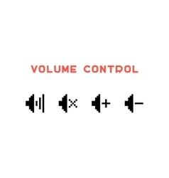 volume control set in pixel art vector image