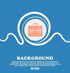 Suitcase icon sign blue and white abstract vector