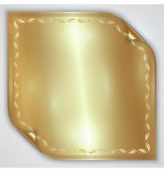 Abstract golden metallic rolled foil sheet vector