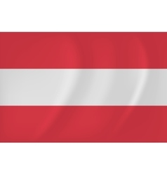 Austria waving flag vector
