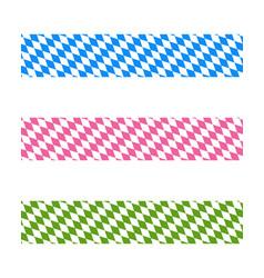 Bavarian ribbons vector