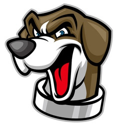 Beagle head dog mascot vector